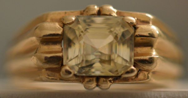 Yellow Sapphire Ring - Prong Setting